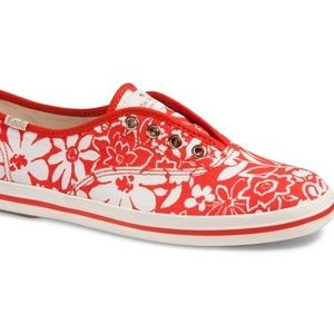KEDS X kate spade new york red sneakers sz 8.5